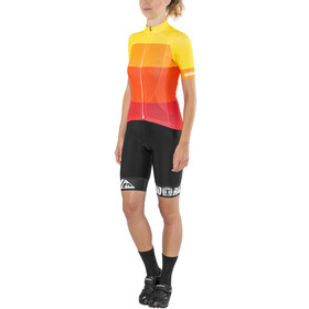 Red Cycling Products Colorblock Race Kleding set Dames geel/rood